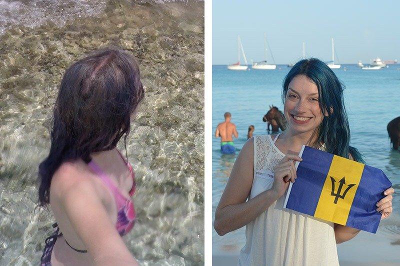 cuidados com cabelo azul na praia viagem danificados
