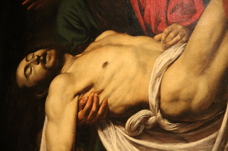 detalhes pintura caravaggio