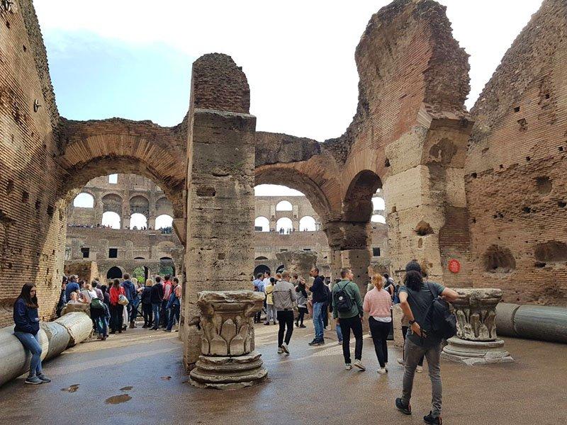 excursao no coliseu tour guiado ruinas em roma