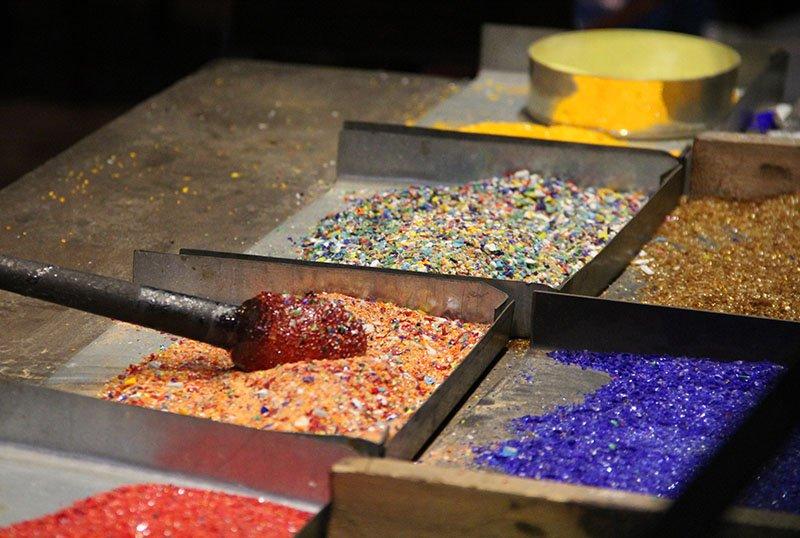 fabricação de peças em vidro em murano