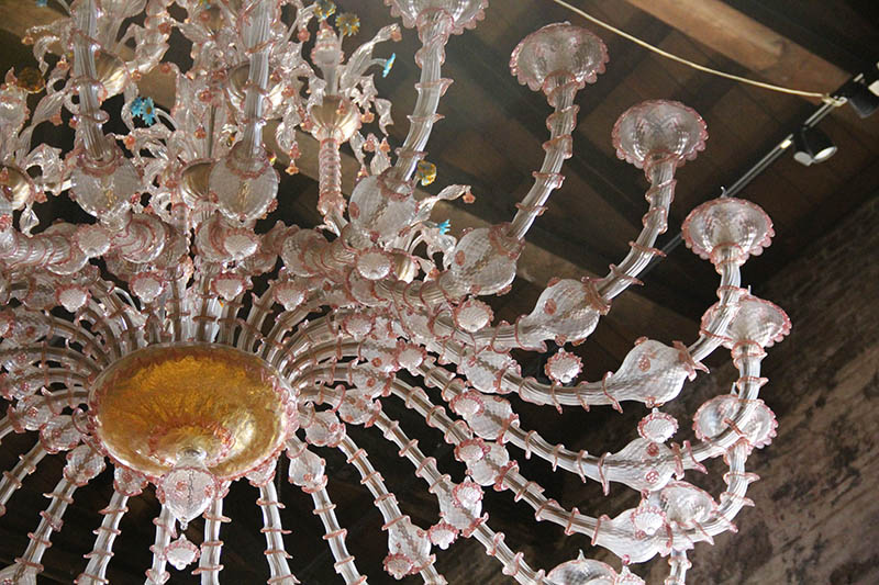 lustre vidro feito em murano italia