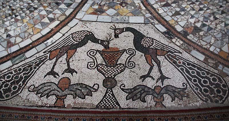 pavimento seculo 12 mosaico piso basilica murano