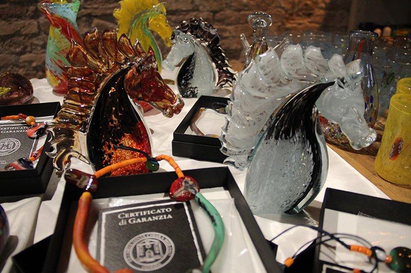 pecas em vidro murano italia certificado de garantia