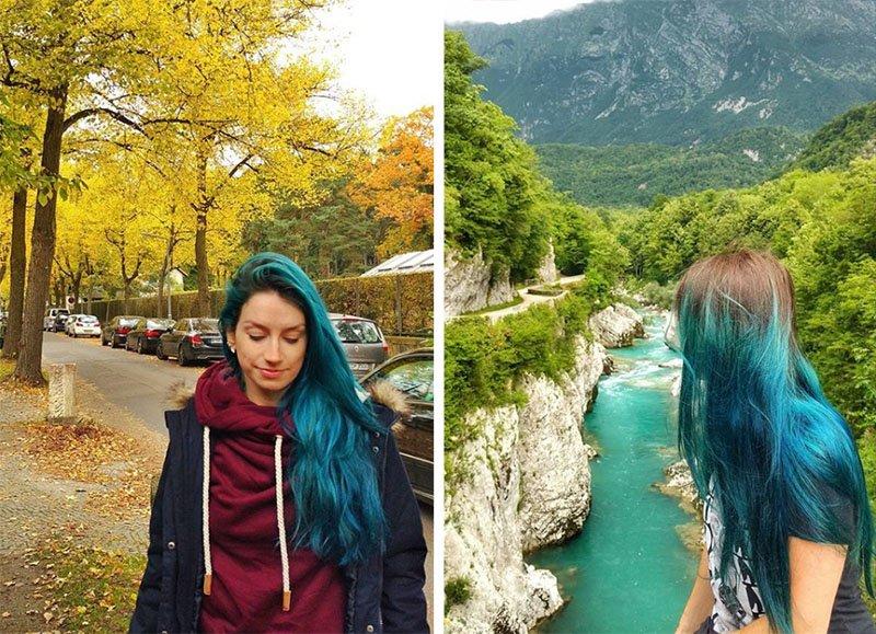 viajar com cabelo colorido dicas