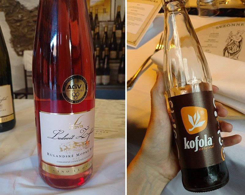 vinho coca eslovaquia kofola