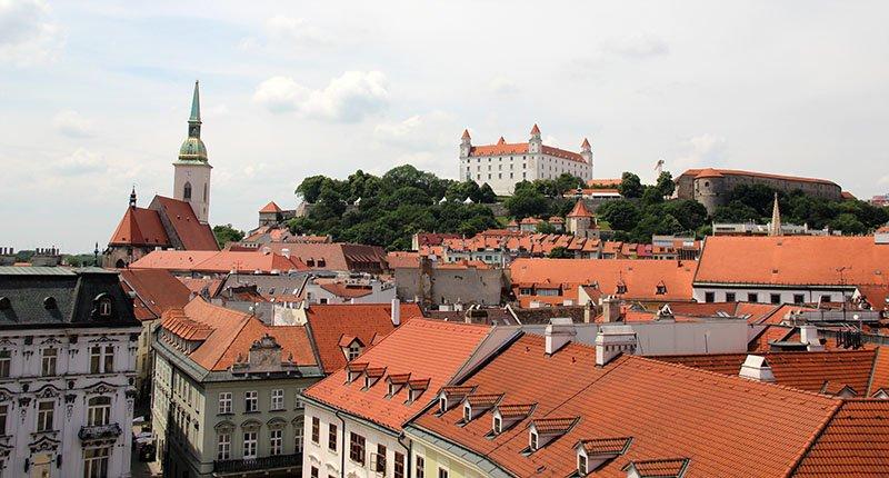 vista torre bratislava centro castelo