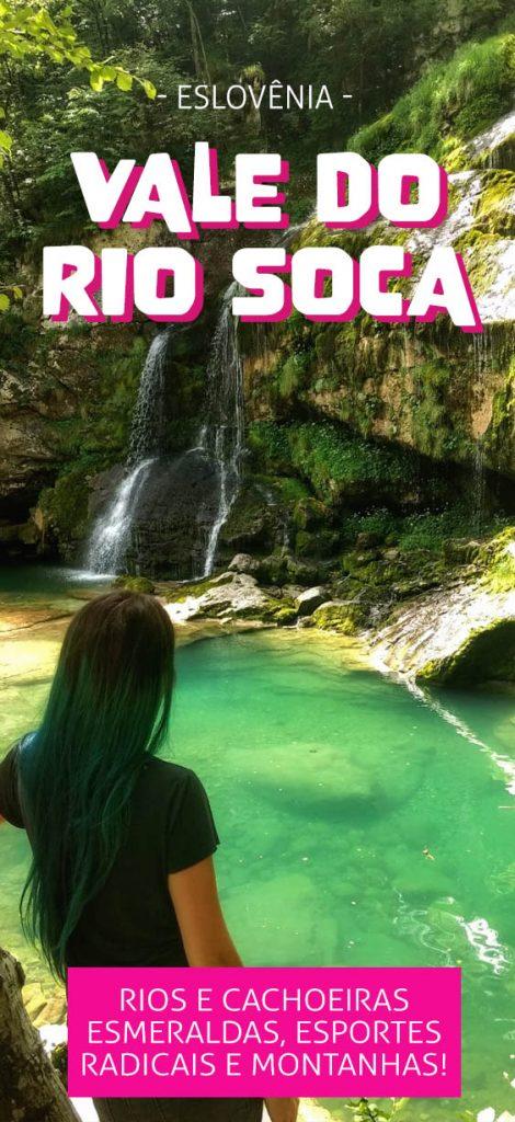 Vale do rio Soča na Eslovênia, esportes radicais e muita natureza