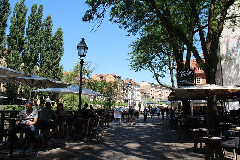 bares e restaurantes beira do rio liubliana