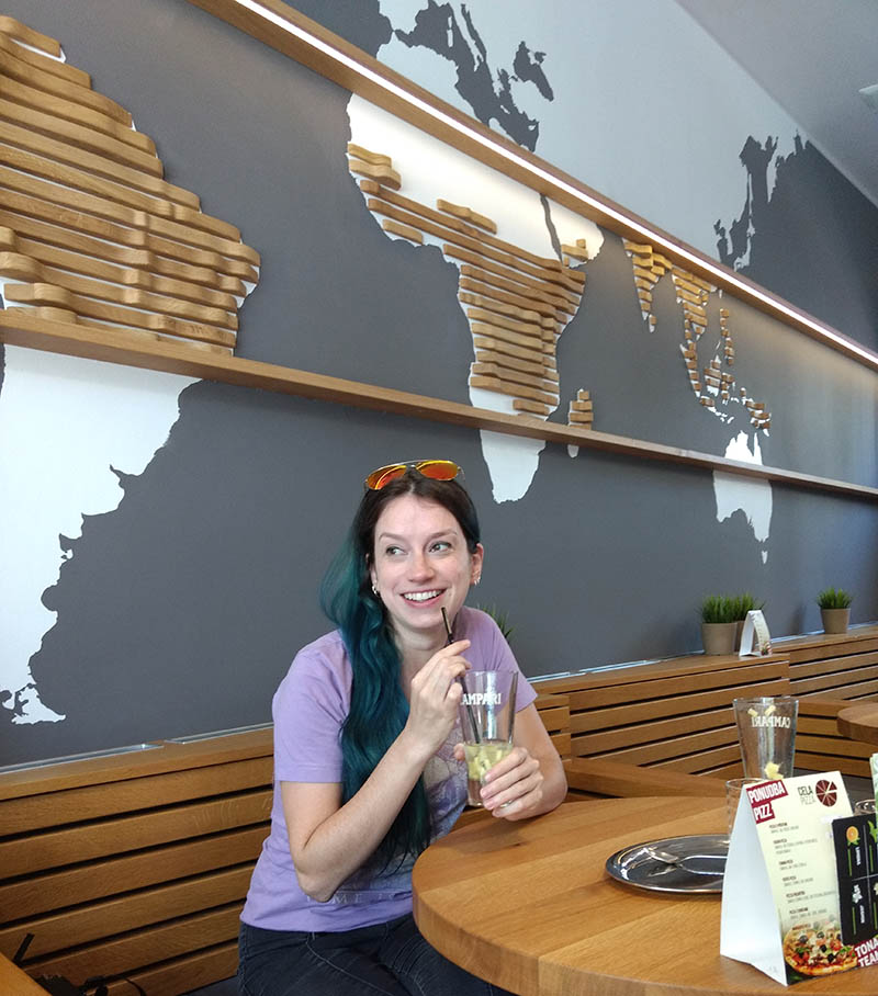 cafeteria mapa na parede liubliana