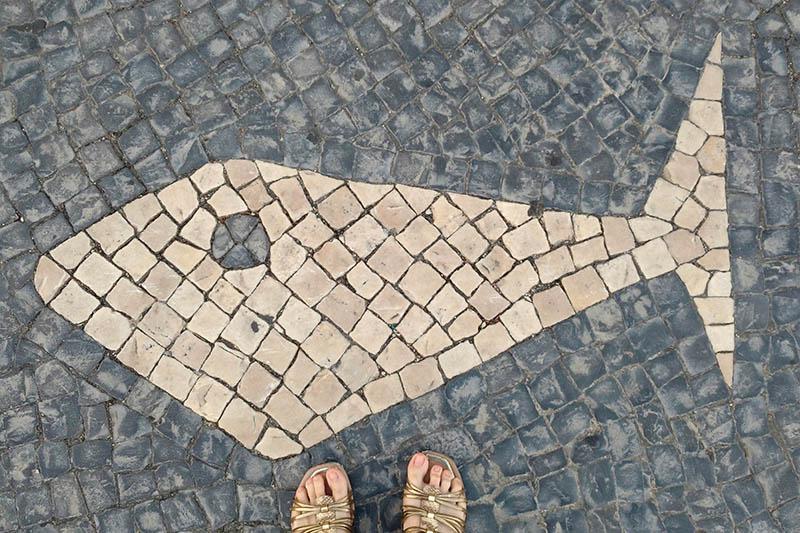 calçada de estoril peixe petit pave