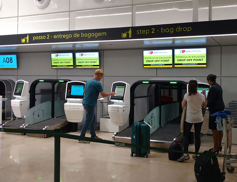 despache automatico de mala tap aeroporto lisboa