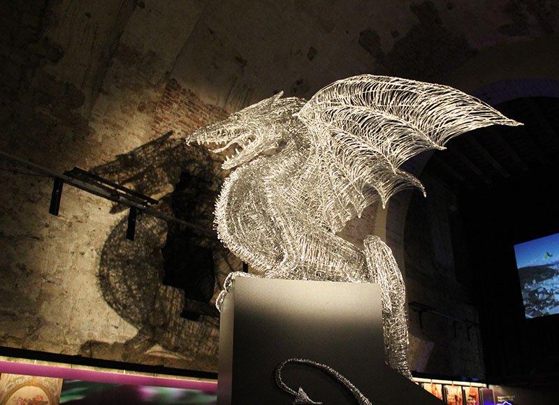 dragão de arame escultura liubliana