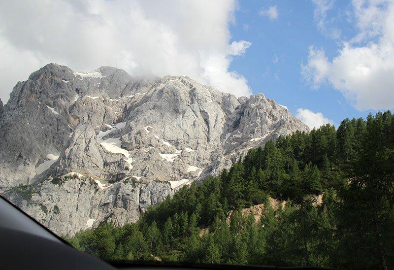 estrada Vršič Pass alpes julianos triglav park eslovenia