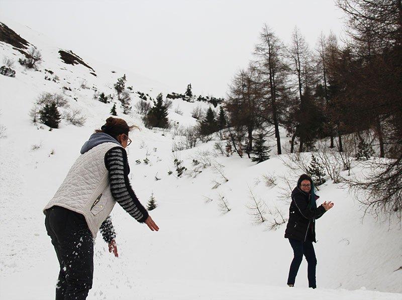 guerra de bolinha de neve monte grappa
