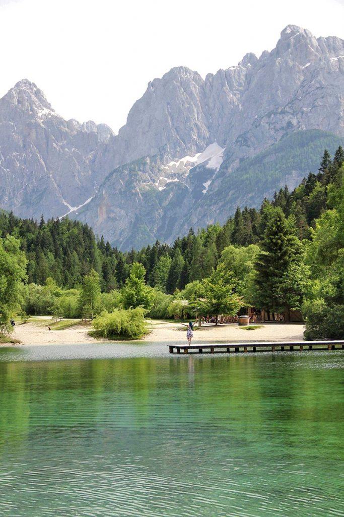 lago jasna eslovenia natureza europa mochilao