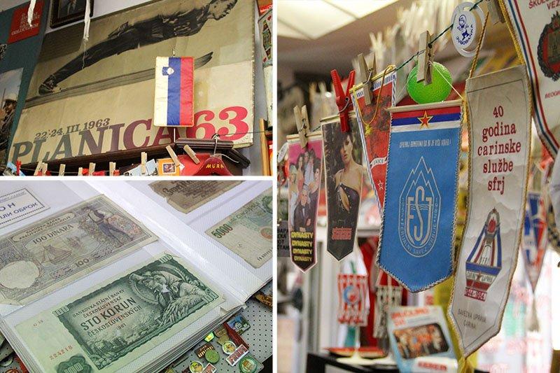 loja de antiguidades iugoslavia em liubliana