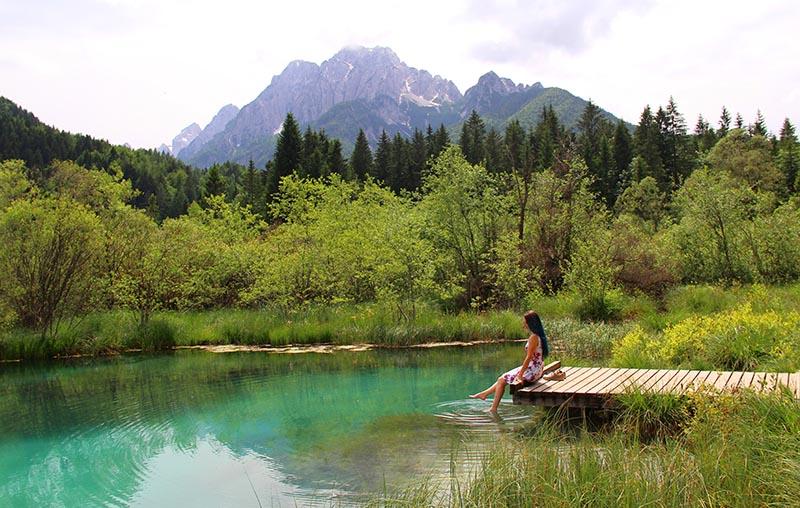 o que ver na eslovenia lago zelenci esmeralda