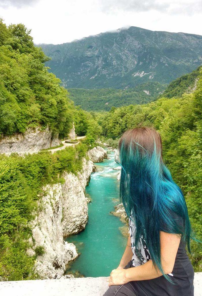 ponte do napoleao Vale do rio Soča kobarid eslovenia