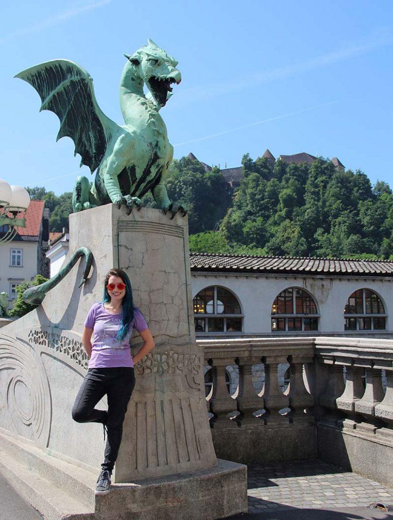 ponte dos dragoes liubliana castelo no morro