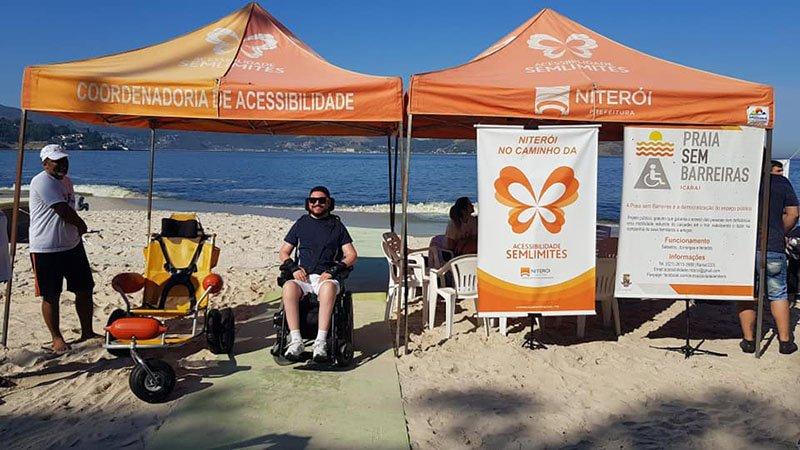 projeto praia acessivel em niteroi