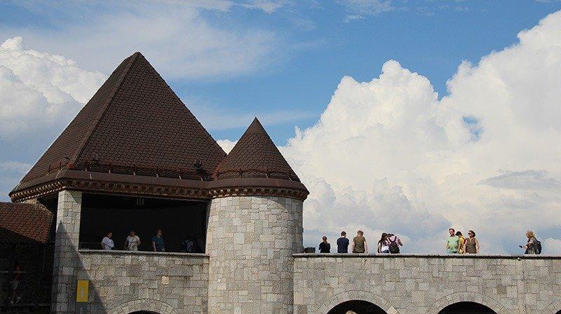 torre muralha castelo liubliana eslovenia