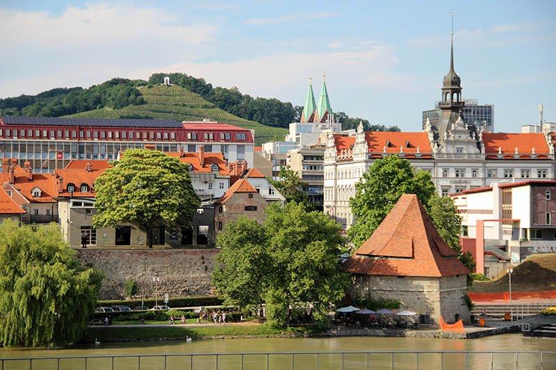vista de maribor eslovenia rio