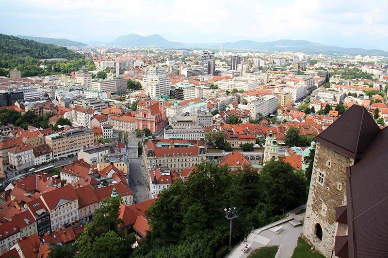vista do castelo liubliana eslovenia