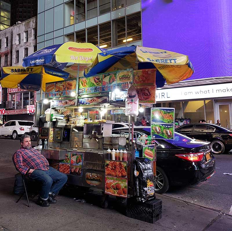 barraquinha cachorro quente times square em nova york