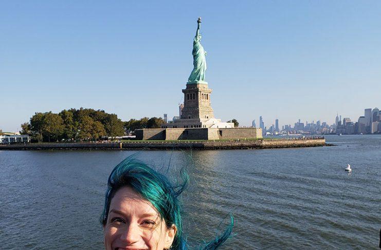 estatua da liberdade vista do ferry nova york