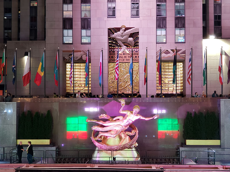 estatua rockfeller center nova york
