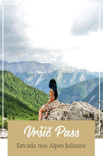 Estrada nas montanhas da Eslovênia