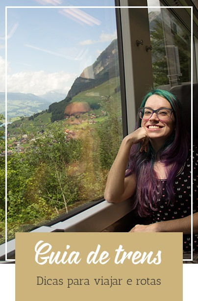 Guia de trens panorâmicos na Suíça