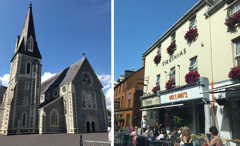 igreja e bares em kenmare irlanda