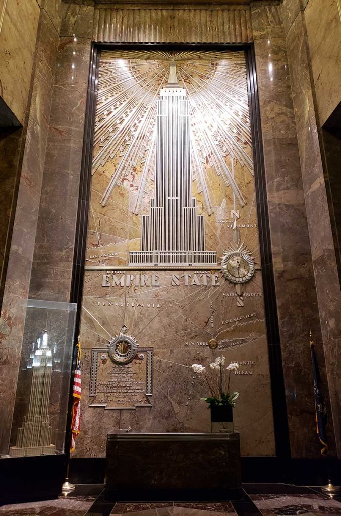 interior empire state building marmore