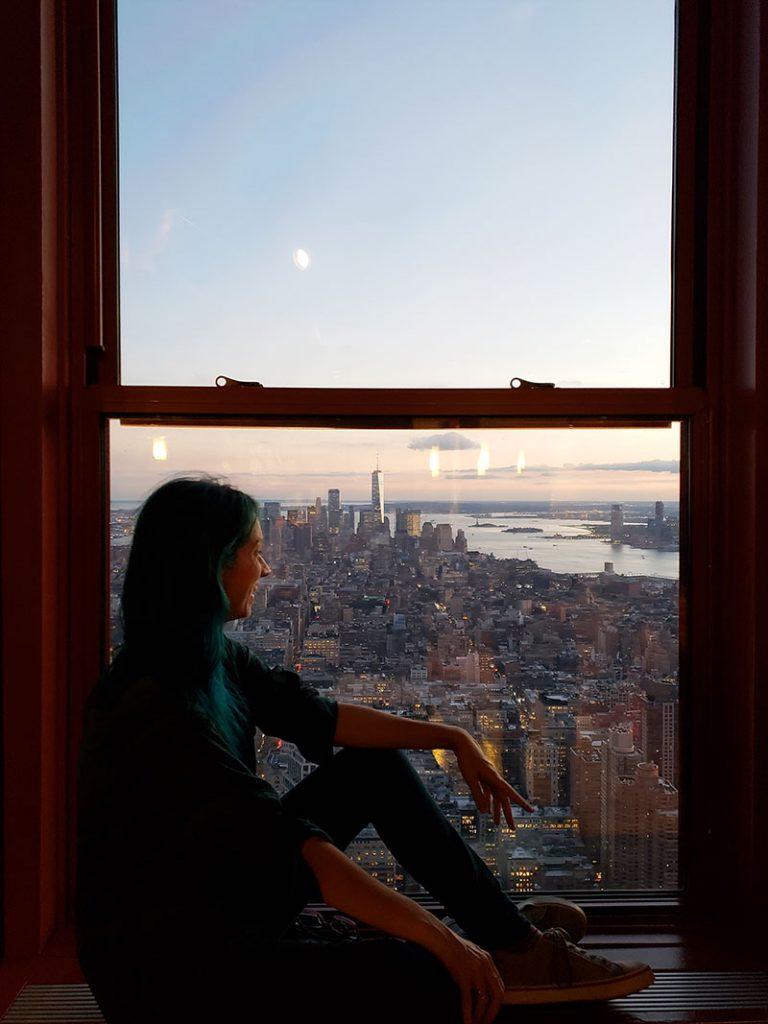 nova york vista de cima empire state building