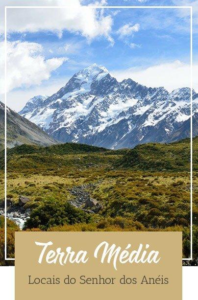 Nova Zelândia localizações Senhor dos Anéis