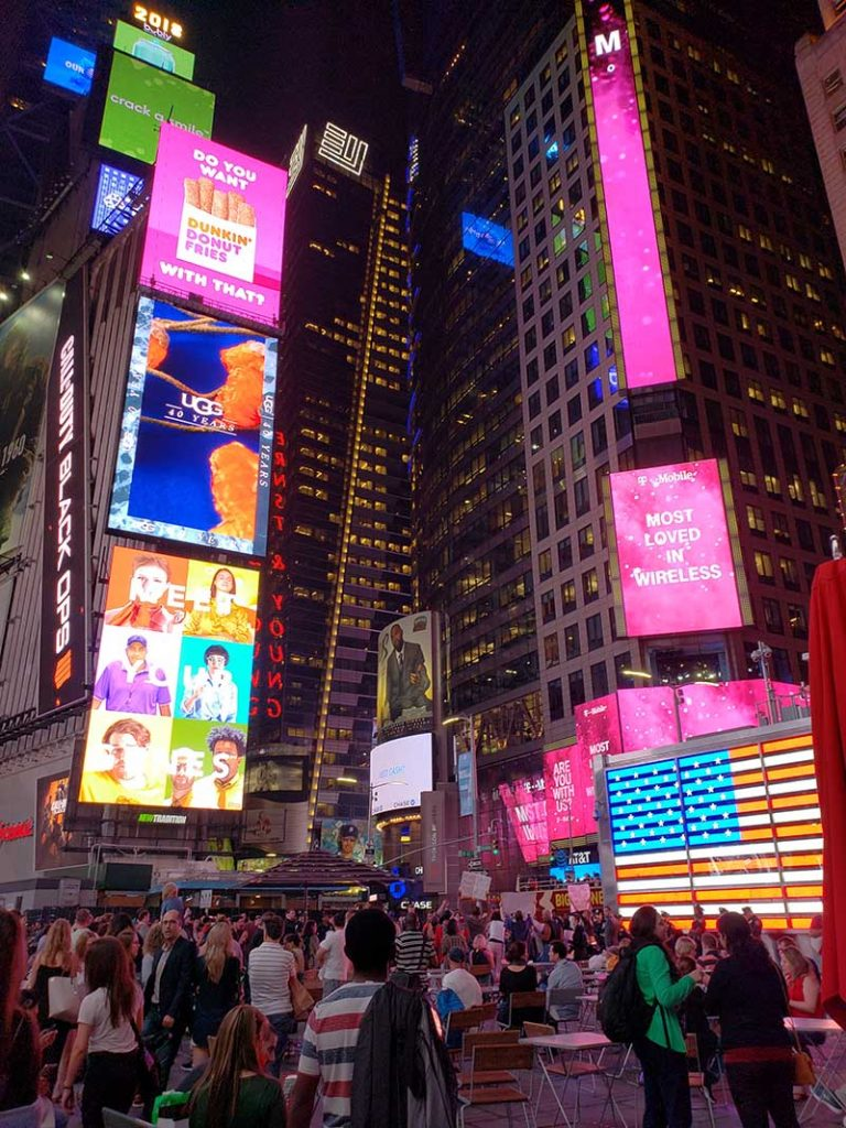 o que fazer em nova york times square