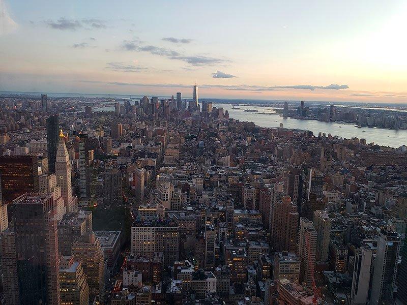 observatorio nova york vista empire state building
