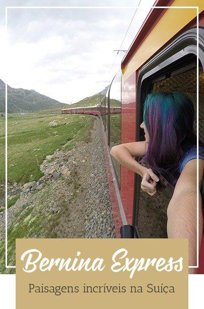 Suíça trem Bernina Express
