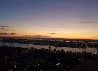 vistas de nova york entardecer empire state building