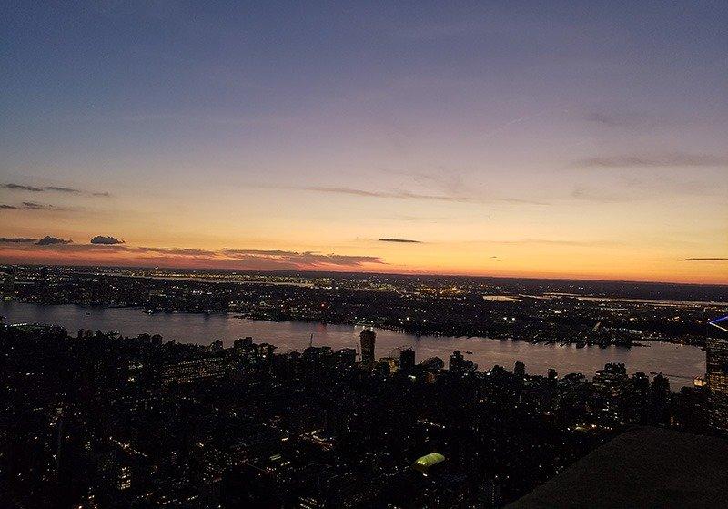 vistas de nova york entardecer empire state building