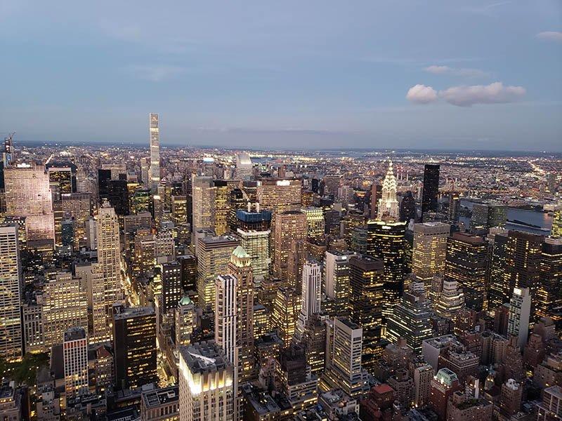 vistas de nova york luzes predios