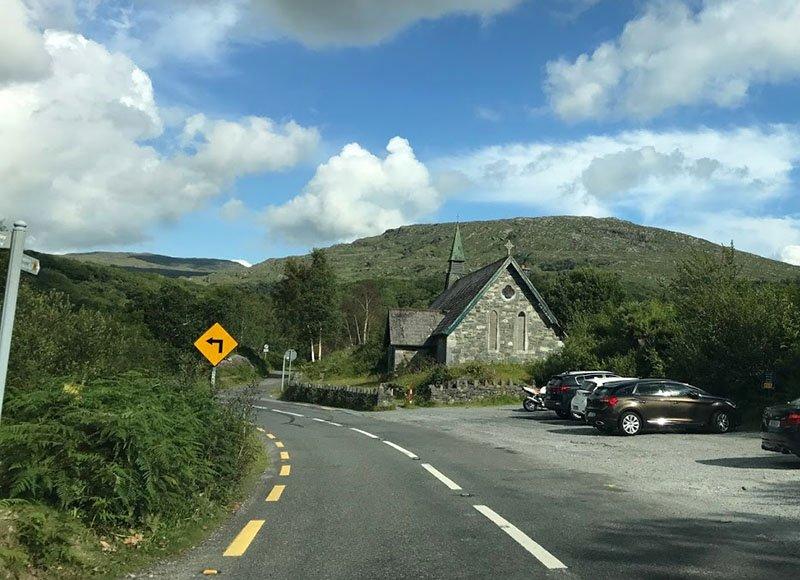 estrada ring of kerry moll's gap interior da irlanda