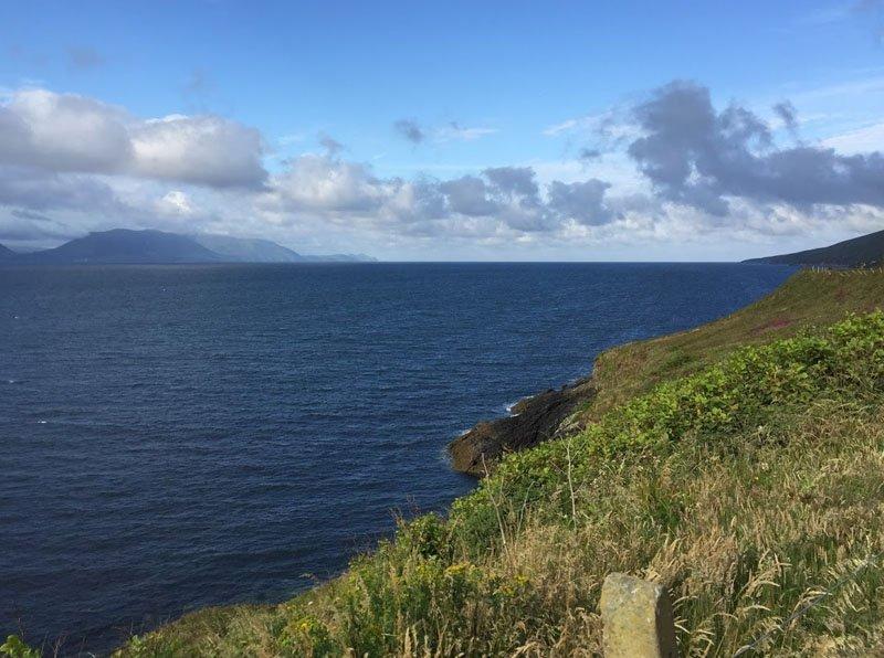 estrada sul da irlanda mar