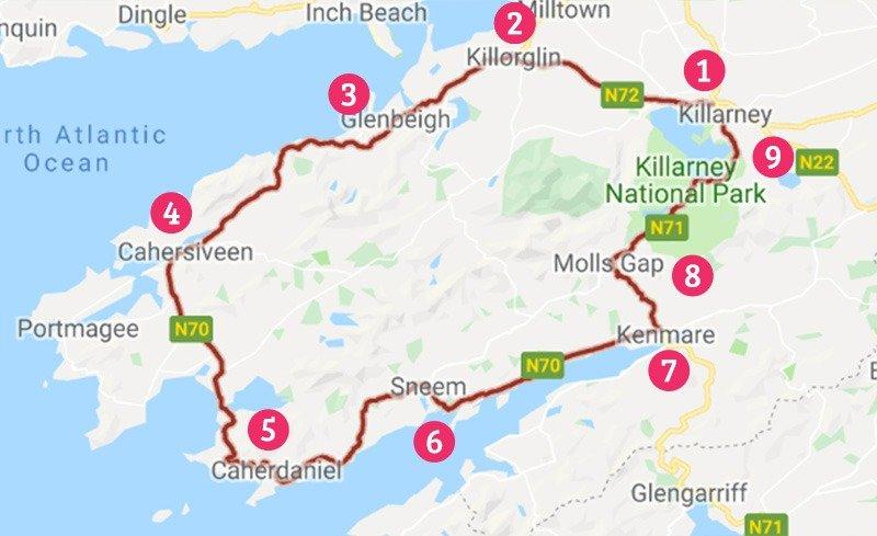 mapa ring of kery dicas do que fazer na irlanda