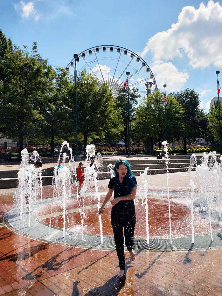 o que fazer em atlanta fountain of rings