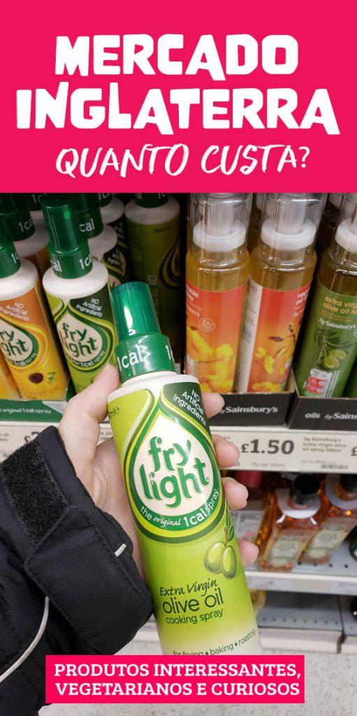 Preços nos Supermercados na Inglaterra, quanto custa