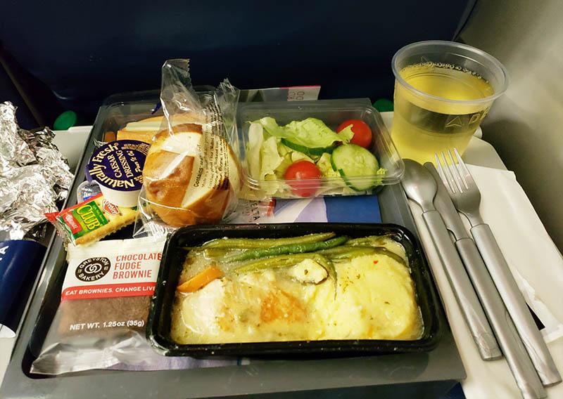 comida da delta airlines voo estados unidos brasil