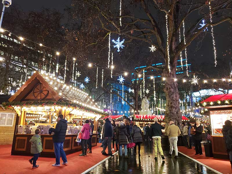 mercado de natal em londres leicester square