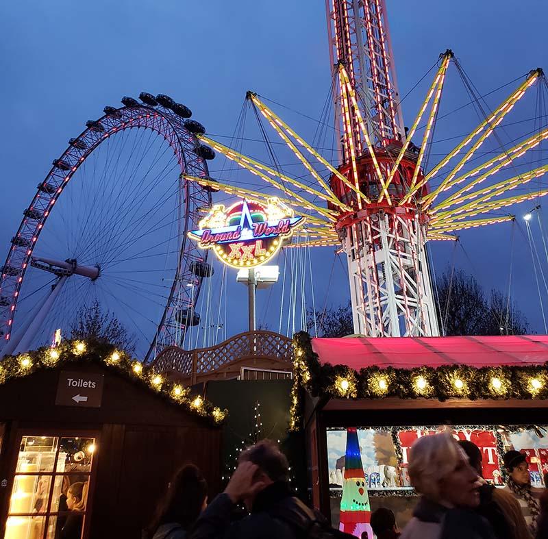 mercados de natal em londres london eye